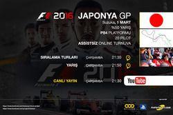 F1 2016 Online Turnuva Japonya GP