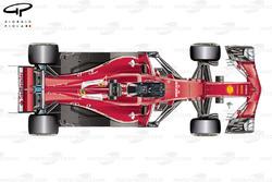 Vista superior de Ferrari SF70H