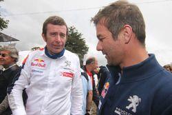 Bruno Famin, head of Peugeot Sport, with Sébastien Loeb