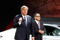 Bob Carter, SVP Auto Ops Toyota & Akio Toyoda, President Toyota