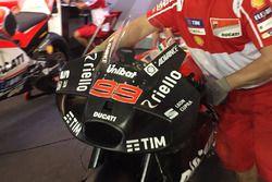Jorge Lorenzo, Ducati Team with new aerodynamic winglet fairing