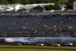 Kyle Busch, Joe Gibbs Racing Toyota nd Martin Truex Jr., Furniture Row Racing Toyota spin