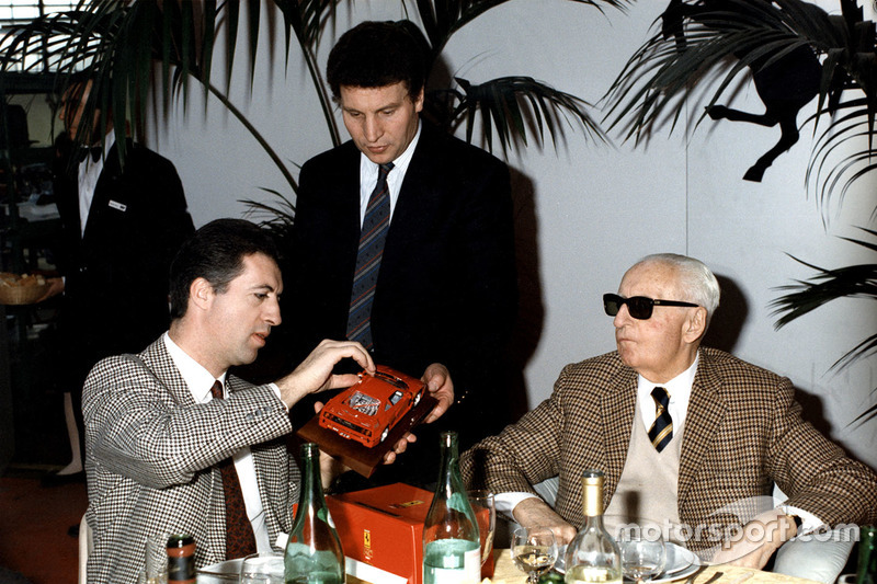 Enzo e Piero Ferrari nel 1987