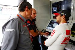 Romain Grosjean, Haas F1 Team, mit Günter Steiner, Haas-Teamchef