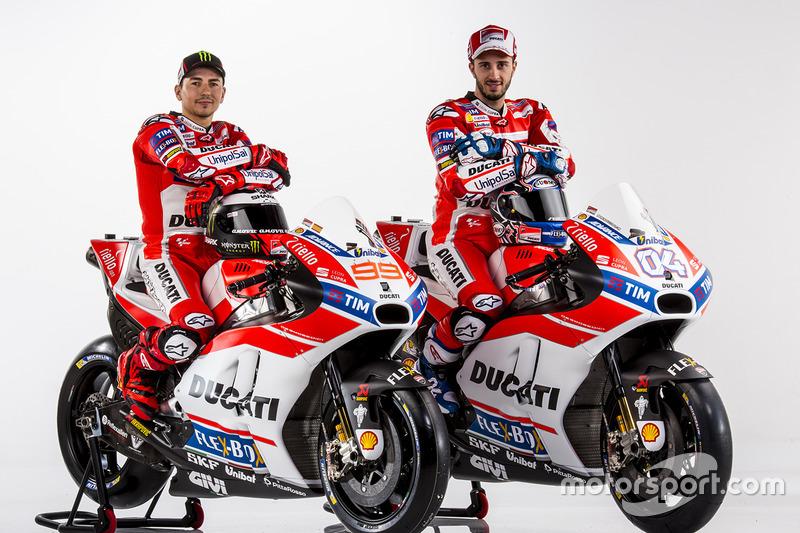 Ducati Desmosedici 2017 - Jorge Lorenzo e Andrea Dovizioso
