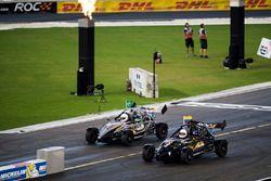 Juan Pablo Montoya, races Felipe Massa, driving the Ariel Atom Cup