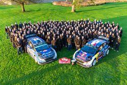 Sébastien Ogier, Julien Ingrassia, M-Sport, Ford Fiesta WRC, Ott Tänak, Martin Järveoja, M-Sport, Ford Fiesta WRC celebrate with the team