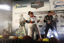 GTD podium: winners Connor de Phillippi, Christopher Mies, Sheldon van der Linde, Land-Motorsport, s