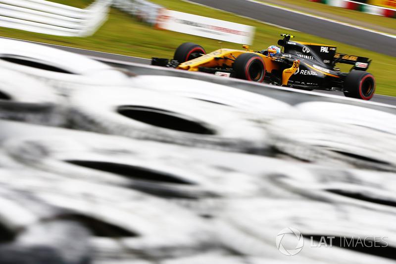 18: Jolyon Palmer, Renault Sport F1 Team RS17 (inc. gridstraf van 20 plaatsen)