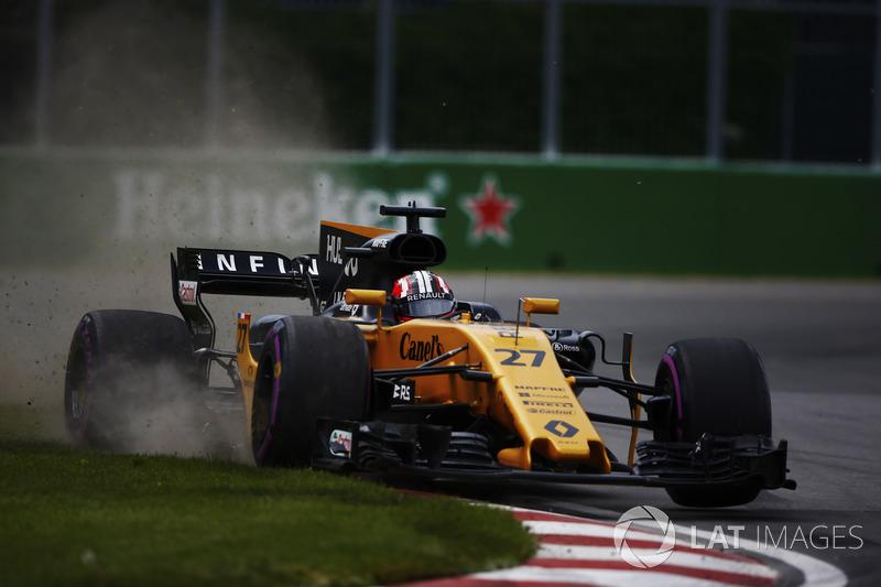 Nico Hulkenberg, Renault Sport F1 Team RS17, commet une erreur