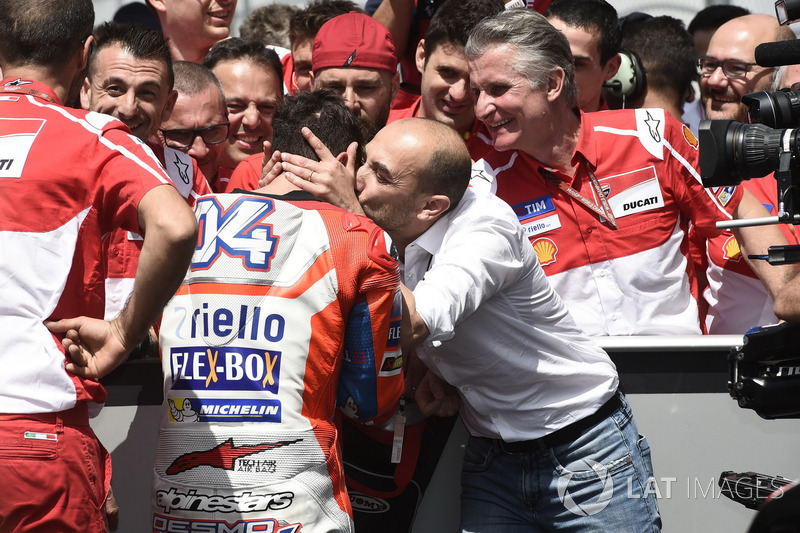 Andrea Dovizioso, Ducati Team, and Claudio Domenicali