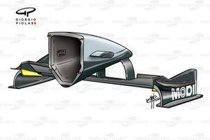 McLaren MP4-15 2000 front wing