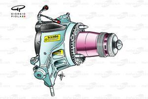 Ferrari F2004 front suspension upright