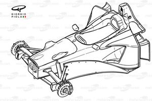 Stewart SF2 1998 chassis detail