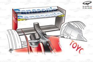 Toyota TF103 2003 rear wing
