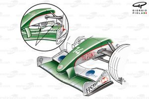 Jaguar R4 2003 front wing and nose