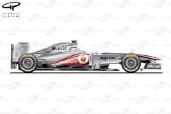 McLaren MP4/26 side view, Spanish GP