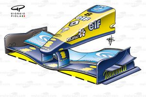 Renault R24 2004 front wing and nose