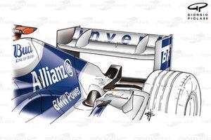 Williams FW26 rear wing (added flap bridges)