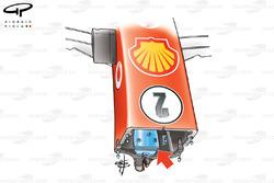 Lest dans le nez de la Ferrari F2005