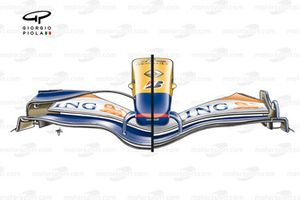 Renault R27 2007 Canada front wing comparison