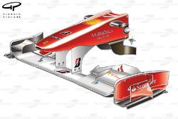 Переднее антикрыло Ferrari F10