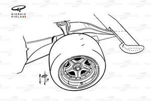Roue et aileron avant de la Ferrari 312B3