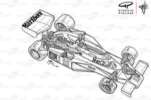 Vista general del McLaren M23B 1976