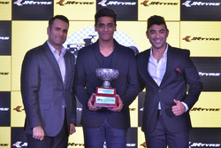 Nayan Chatterjee Second Runner trophy in the EURO JK 16 Category with Armaan Ebrahim