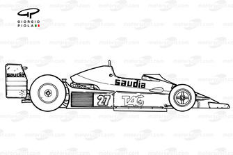 Williams FW06 1979 года: вид сбоку