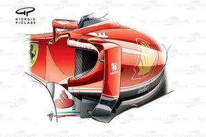 Боковой понтон Ferrari SF16-H. Версия, использовавшаяся до этапа в Испании