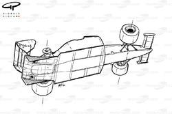 Vue de dessous de la McLaren MP4-2
