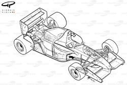 Схема Williams FW14B 1992 года