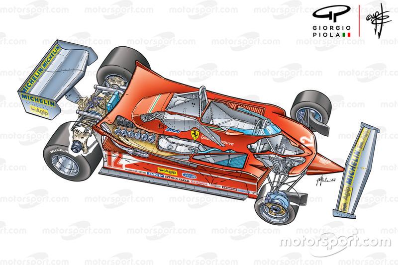 Vista del Ferrari 312T4 3/4