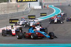 Arjun Maini, Jenzer Motorsport leads Artur Janosz, Trident & Giuliano Alesi, Trident