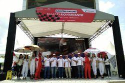 Acara nonton bareng F1 Rio Haryanto
