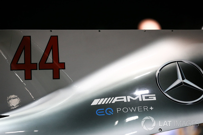 Mercedes AMG F1 F1 W08  engine cover detail