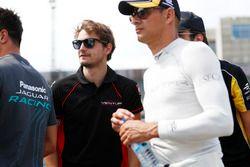 Tom Dillmann, Venturi, and Nelson Piquet Jr., NEXTEV TCR Formula E Team, durng the drivers parade
