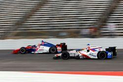Ed Jones, Dale Coyne Racing Honda, Carlos Munoz, A.J. Foyt Enterprises Chevrolet