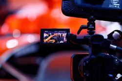 The media film the McLaren MCL32