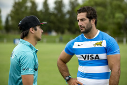 Atmosphere with Rugby players