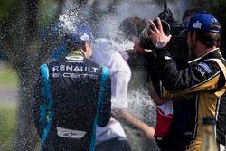 Podyum: Sébastien Buemi, Renault e.Dams ve Jean-Eric Vergne, Techeetah