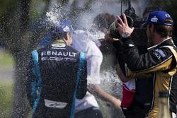 Podio: Sébastien Buemi, Renault e.Dams e Jean-Eric Vergne, Techeetah