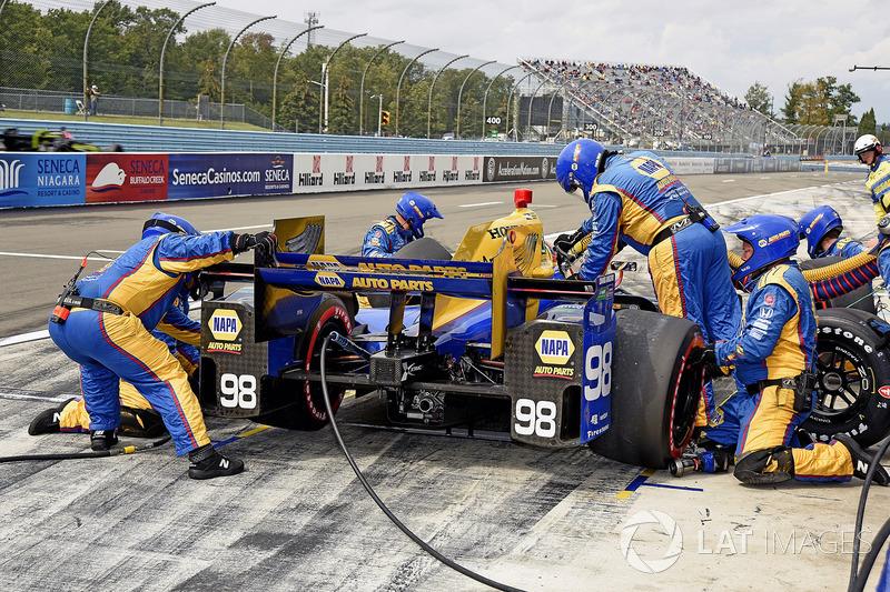 Alexander Rossi, Curb Herta - Andretti Autosport Honda pitstop