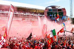 Race winner Lewis Hamilton, Mercedes AMG F1, Second place Third place Valtteri Bottas, Mercedes AMG