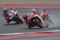 Марк Маркес, Repsol Honda Team, Андреа Довициозо, Ducati Team, и Данило Петруччи, Pramac Racing