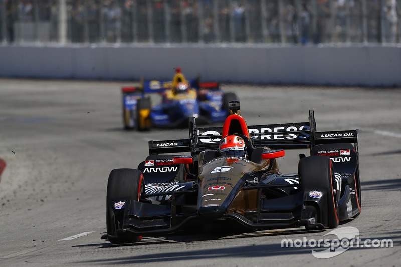 James Hinchcliffe, Schmidt Peterson Motorsports, Honda; Alexander Rossi, Herta - Andretti Autosport, Honda