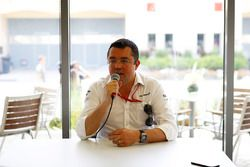 Eric Boullier, Racing Director, McLaren, holds a Press Conference