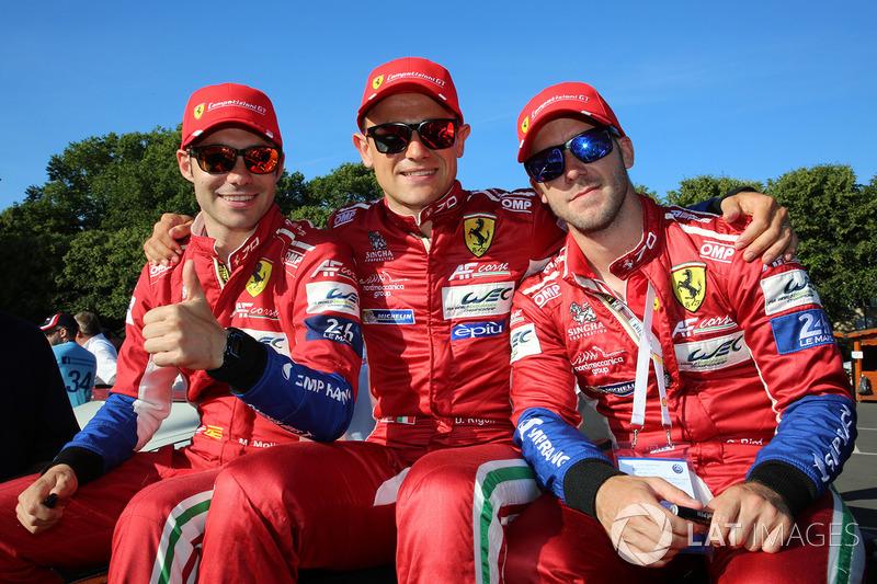 Davide Rigon, Sam Bird, Miguel Molina, AF Corse