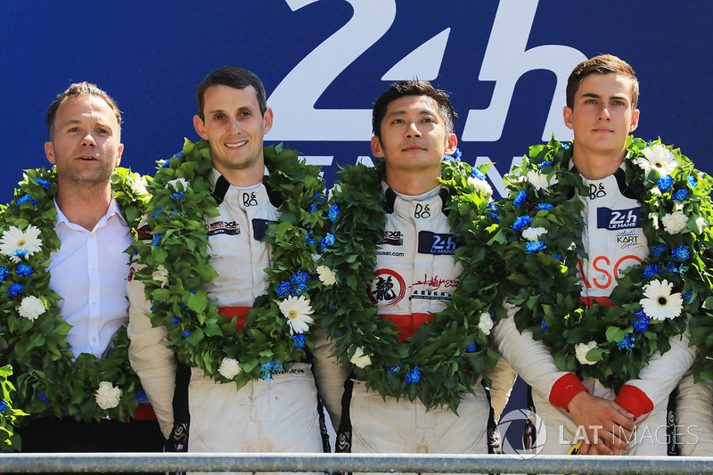 Podium LMP2: 1. Ho-Pin Tung, Oliver Jarvis, Thomas Laurent, DC Racing